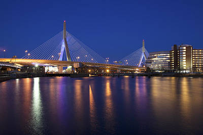 Leonard P Zakim Bridge Art Print by Eric Gendron