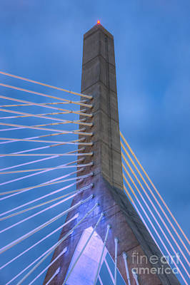 Photograph - Leonard P. Zakim Bunker Hill Bridge Ix by Clarence Holmes