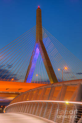 Photograph - Leonard P. Zakim Bunker Hill Bridge V by Clarence Holmes