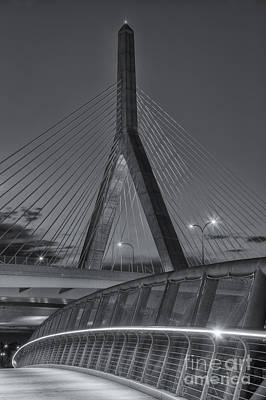 Photograph - Leonard P. Zakim Bunker Hill Bridge Vi by Clarence Holmes