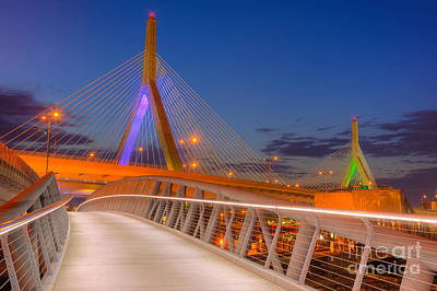 Photograph - Leonard P. Zakim Bunker Hill Bridge Vii by Clarence Holmes