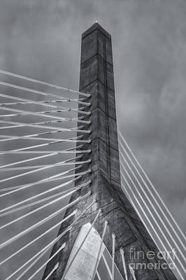 Photograph - Leonard P. Zakim Bunker Hill Bridge X by Clarence Holmes