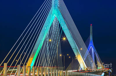 Leonard P. Zakim Bunker Hill Memorial Bridge Art Print