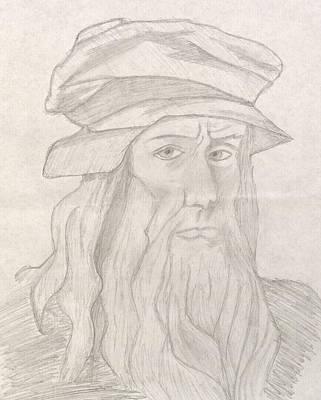 Vitruvius Drawing - Leonardo Da Vinci by Manasa Patapatnam