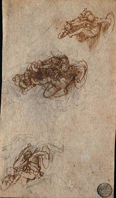 Character Study Photograph - Leonardo Da Vinci, Three Groups by Everett