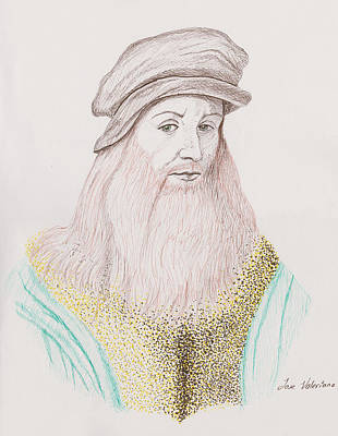 Drawing - Leonardo Davinci by M Valeriano