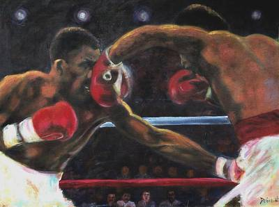 Painting - Leonard Vs Hearns I by Gregory DeGroat