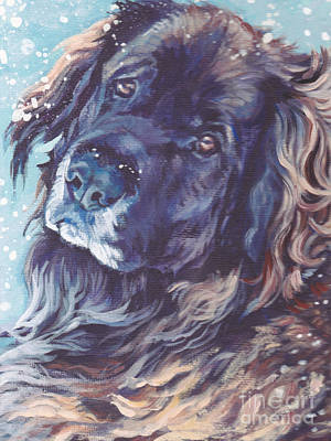 Painting - Leonberger Portrait by Lee Ann Shepard