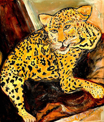 Painting - Leopard by Anand Swaroop Manchiraju