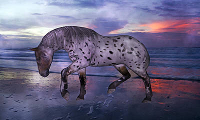 Cloudy Mixed Media - Leopard Appaloosa by Betsy Knapp