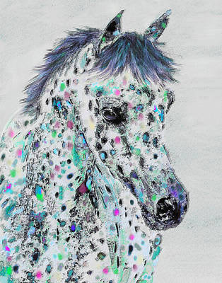 Digital Art - Leopard Appaloosa by Jane Schnetlage