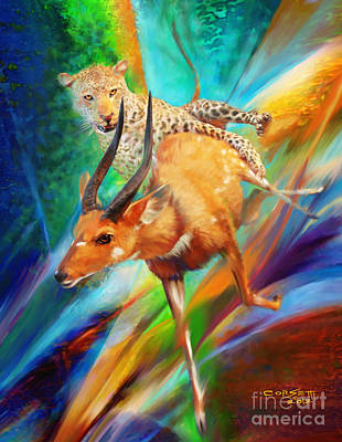 Painting - Leopard Attack by Rob Corsetti