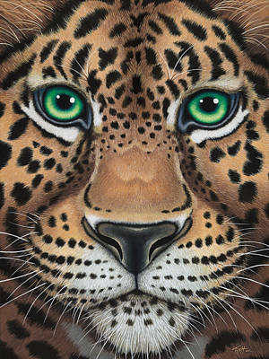 Painting - Wild Eyes Leopard Face by Tish Wynne