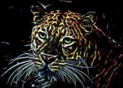Photograph - Leopard Glow by Judy Vincent