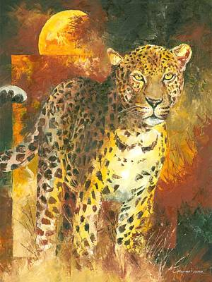 Painting - Leopard In The Sun by Christiaan Bekker