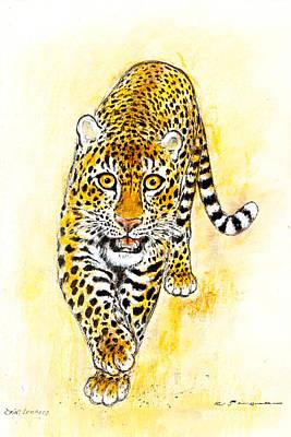 Leopard Art Print by Kurt Tessmann