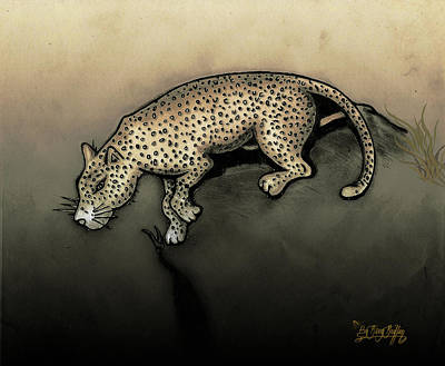 Gerald Griffin Digital Art - Leopard Left by Gerald Griffin