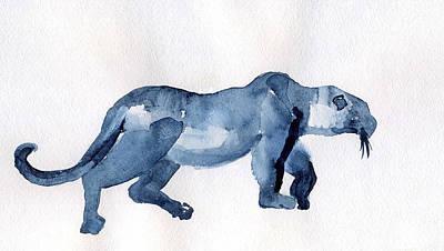 Drawing - Leopard by Lelia Sorokina