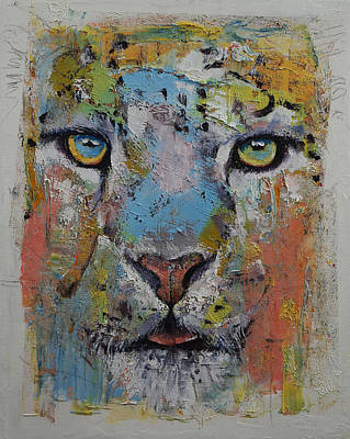 African Art Painting - Leopard by Michael Creese