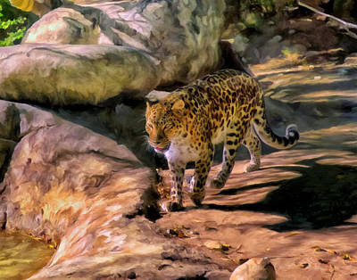 Art Print featuring the painting Leopard by Michael Pickett