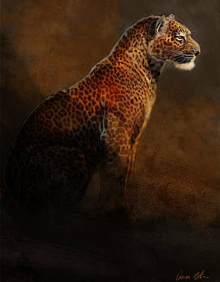 Animals Digital Art - Leopard Portrait by Aaron Blaise