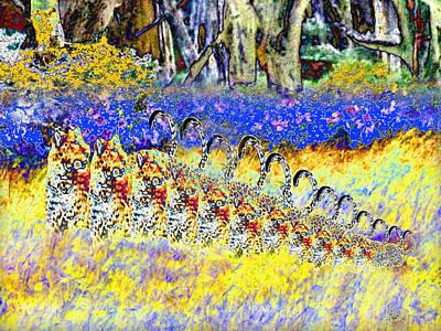 Digital Art - Leopard Rampage by Philip Brent