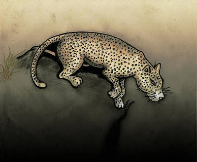 Gerald Griffin Digital Art - Leopard Right by Gerald Griffin