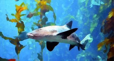 Leopard Shark Watercolor Art Print