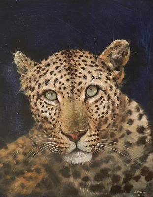 Painting - Leopard Study by Robert Teeling
