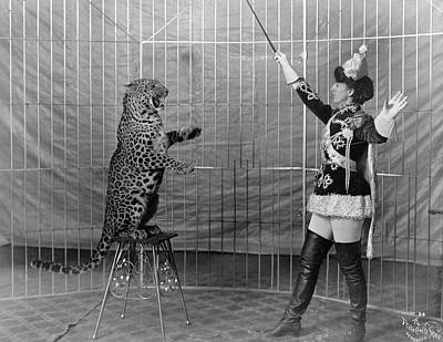 Photograph - Leopard Trainer, C1906 by Granger