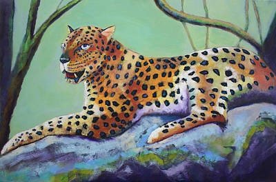Painting - Leopard Waiting by Carol Jo Smidt