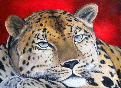 Mayan Jaguar Painting - Leopardo by Angel Ortiz