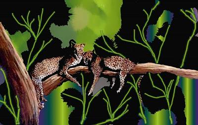 Leopards Art Print by Claire Masters