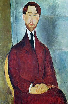 Clemente Painting - Leopold Zborowski by Amedeo Modigliani