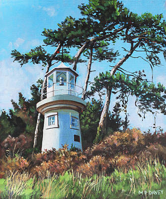 Painting - Lepe Lighthouse Hampshire by Martin Davey