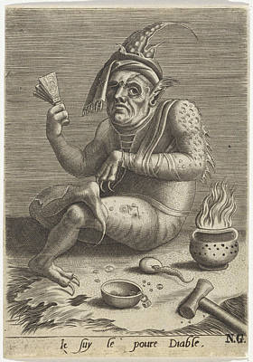 Lepers Beggar In The Guise Of The Devil, Anonymous Art Print