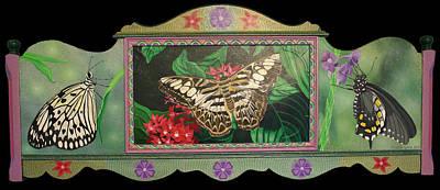 Painting - Lepidopterous Triptych by Amanda  Lynne