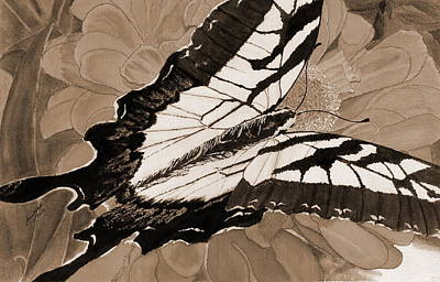Painting - Lepidoptery - Sepia by Joel Deutsch