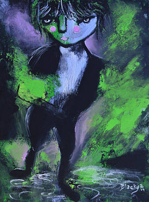 Painting - Leprechaun by Donna Blackhall