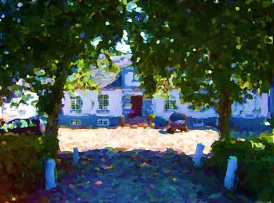 Digital Art - Lerbaek Manor House by Asbjorn Lonvig