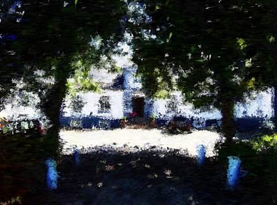 Digital Art - Lerbaek Manor House_impressionist Painting by Asbjorn Lonvig