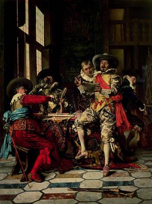 Drunk Photograph - Les Chanteurs by Adolphe Alexandre Lesrel