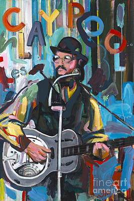 Les Claypool Painting - Les Claypool by David Oppenheimer