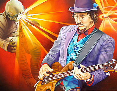 Les Claypool's-sonic Boom Art Print by Joshua Morton