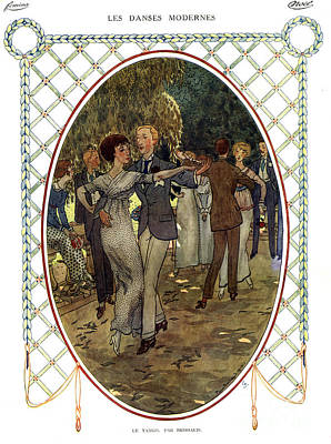 Les Dances Modernes  France Cc Tango Art Print by The Advertising Archives