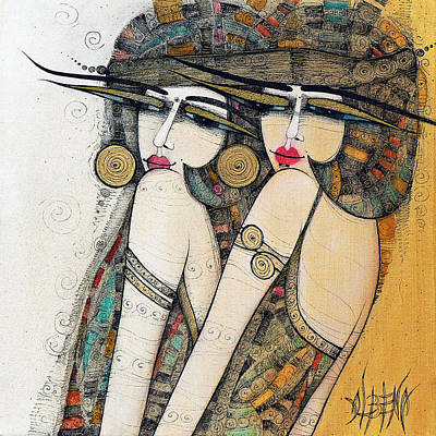 Painting - Les Demoiselles by Albena Vatcheva
