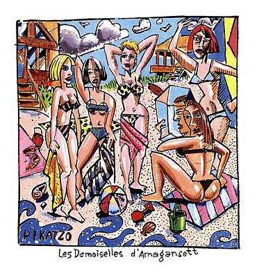 Les Demoiselles D'amagansett Art Print by Tom Hachtman