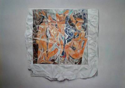 Demoiselles Drawing - Les Demoiselles by Paez  ANTONIO