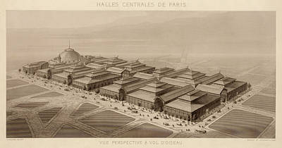 Photograph - Les Halles Paris 1863 by Andrew Fare