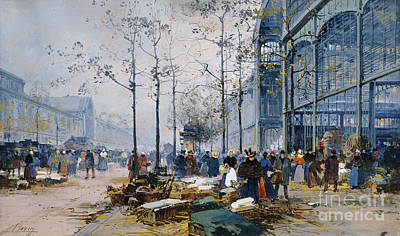 Halle Painting - Les Halles Paris by Jacques Lieven